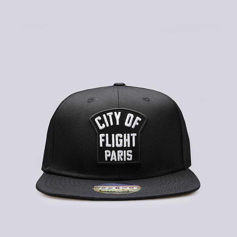 Кепка Jordan City of FlightКепки<br>100% полиэстер<br><br>Цвет: Черный<br>Размеры US: OS