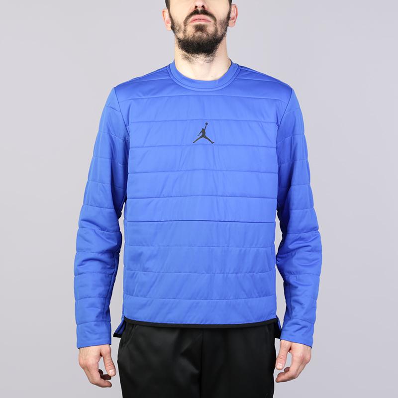 Толстовка Jordan AeroLayer 23 Tech Quilted Training CrewТолстовки свитера<br>Полиестер<br><br>Цвет: Синий<br>Размеры US: 2XL;XL;L;M;S<br>Пол: Мужской