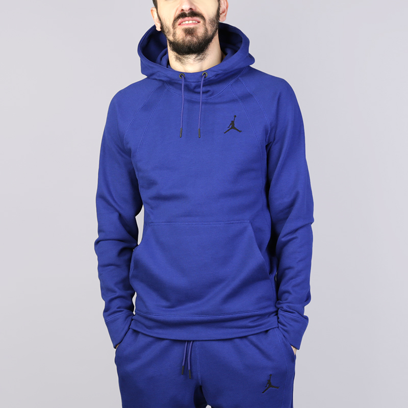Толстовка Jordan Sportswear Wings FleeceТолстовки свитера<br>Хлопок, вискоза, полиестер<br><br>Цвет: Синий<br>Размеры US: S;M;L;XL;2XL<br>Пол: Мужской