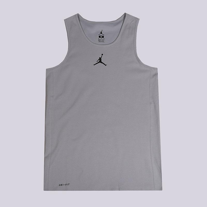 Майка Jordan Rise Basketball TankБезрукавки<br>67% хлопок, 33% полиэстер<br><br>Цвет: Серый<br>Размеры US: S;M;L;XL;2XL<br>Пол: Мужской
