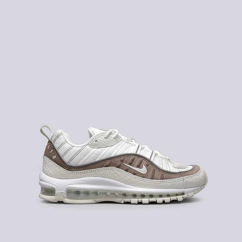 Кроссовки Nike Air Max 98 SEКроссовки lifestyle<br>Текстиль, кожа, резина, пластик<br><br>Цвет: Бежевый<br>Размеры US: 10;11.5;12<br>Пол: Мужской