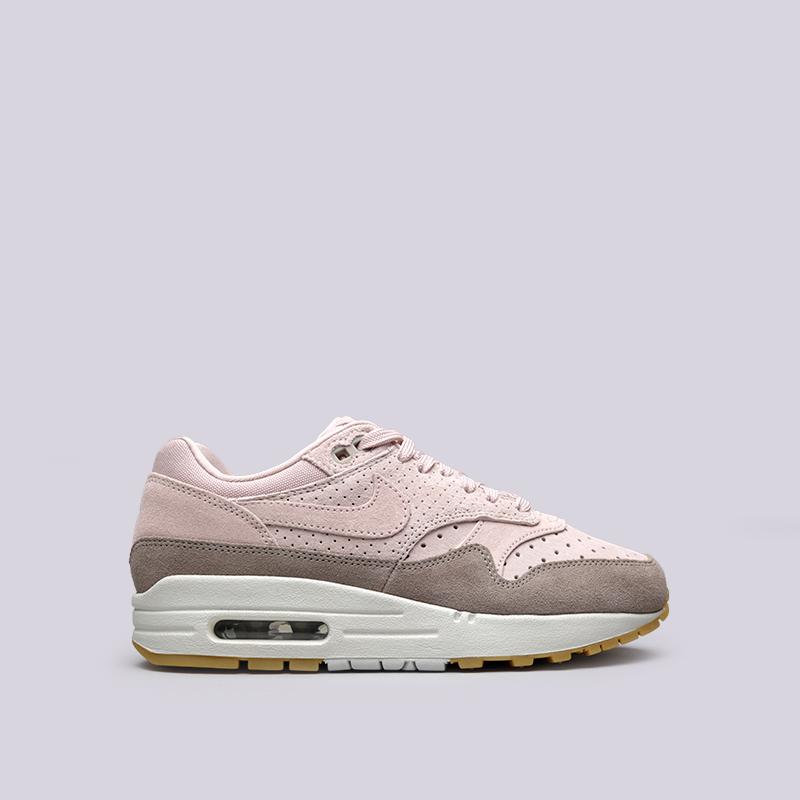Кроссовки Nike WMNS Air Max 1 PRMКроссовки lifestyle<br>Кожа, текстиль, резина<br><br>Цвет: Розовый<br>Размеры US: 7.5<br>Пол: Женский