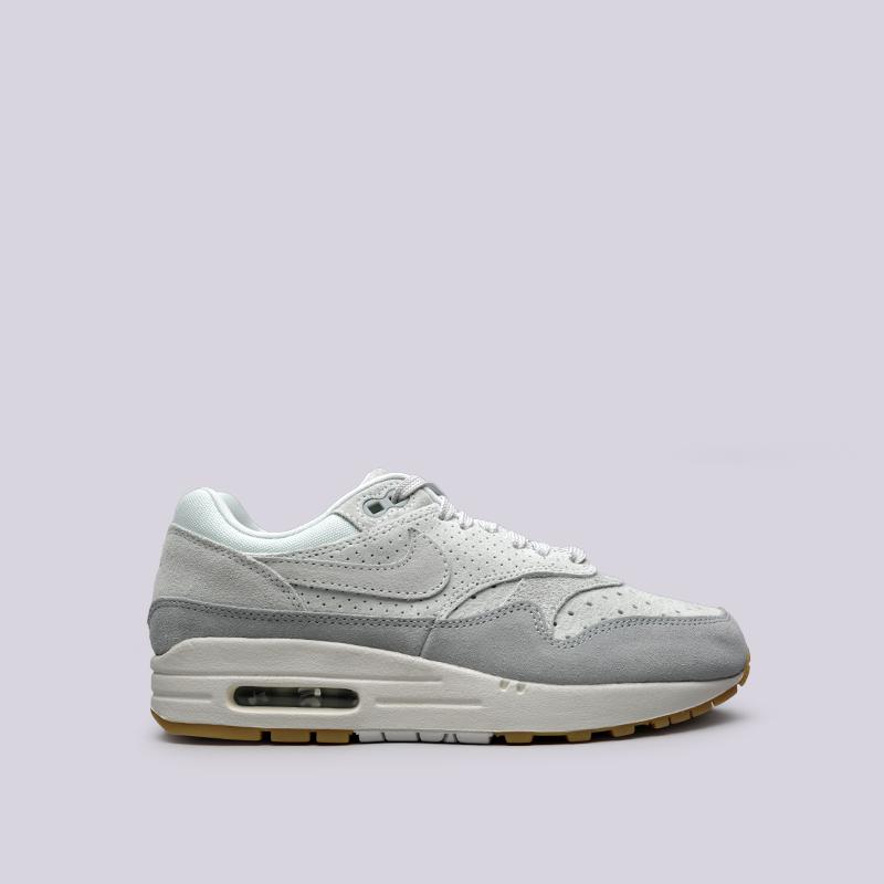 Кроссовки Nike WMNS Air Max 1 PRMКроссовки lifestyle<br>Кожа, текстиль, резина<br><br>Цвет: Серый<br>Размеры US: 6;7;7.5;8;8.5;9<br>Пол: Женский
