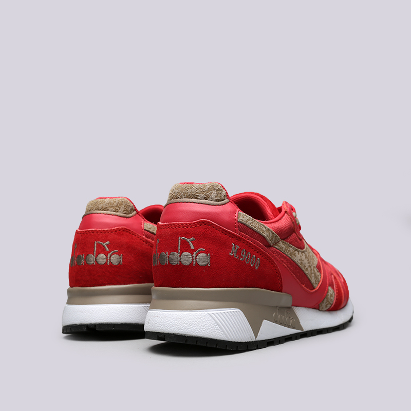красные  кроссовки diadora n9000 mii 173070-45034 - цена, описание, фото 4