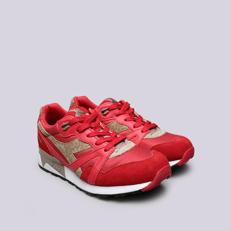 красные  кроссовки diadora n9000 mii 173070-45034 - цена, описание, фото 3