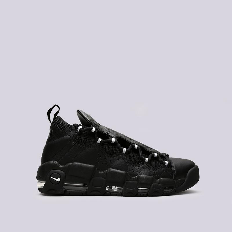 Кроссовки Nike Air More MoneyКроссовки lifestyle<br>Кожа, текстиль, синтетика, резина, пластик<br><br>Цвет: Чёрный<br>Размеры US: 8;9;9.5<br>Пол: Мужской