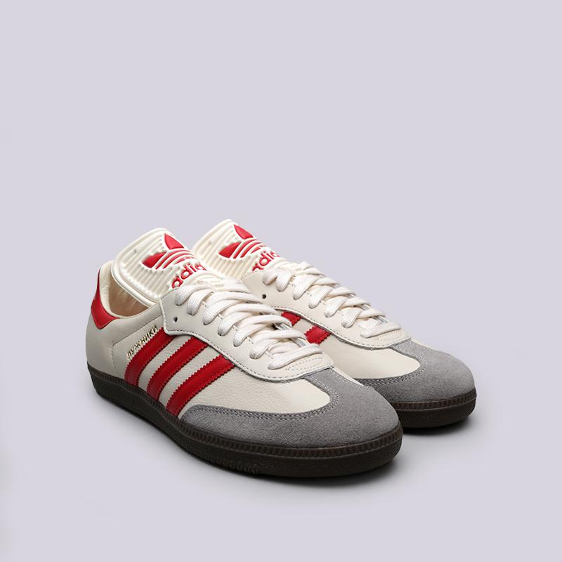 мужские бежевые кроссовки adidas samba classic og CQ2216 - цена, описание,  фото 4 40c1957dd55