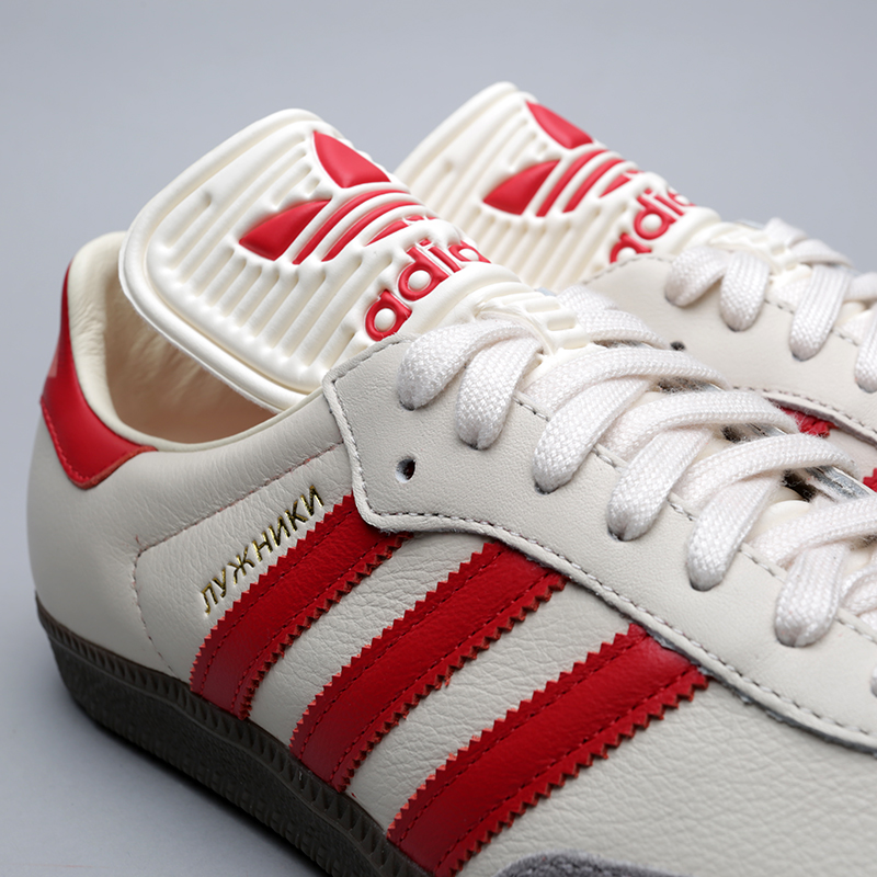 мужские бежевые кроссовки adidas samba classic og CQ2216 - цена, описание,  фото 5 0eaa79cddcf
