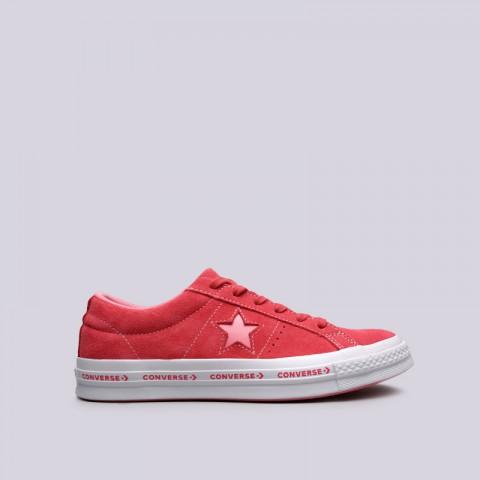 малиновые  кроссовки converse one star ox 159815 - цена, описание, фото 1
