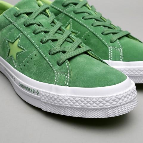зелёные  кроссовки converse one star ox 159816 - цена, описание, фото 5