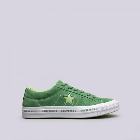 зелёные  кроссовки converse one star ox 159816 - цена, описание, фото 1