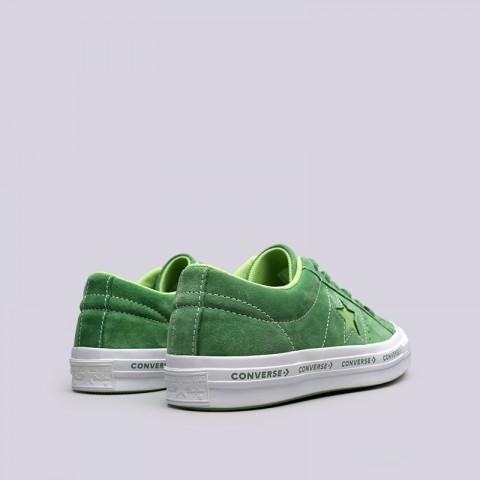зелёные  кроссовки converse one star ox 159816 - цена, описание, фото 4