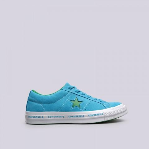 синие  кроссовки converse one star ox 159813 - цена, описание, фото 1