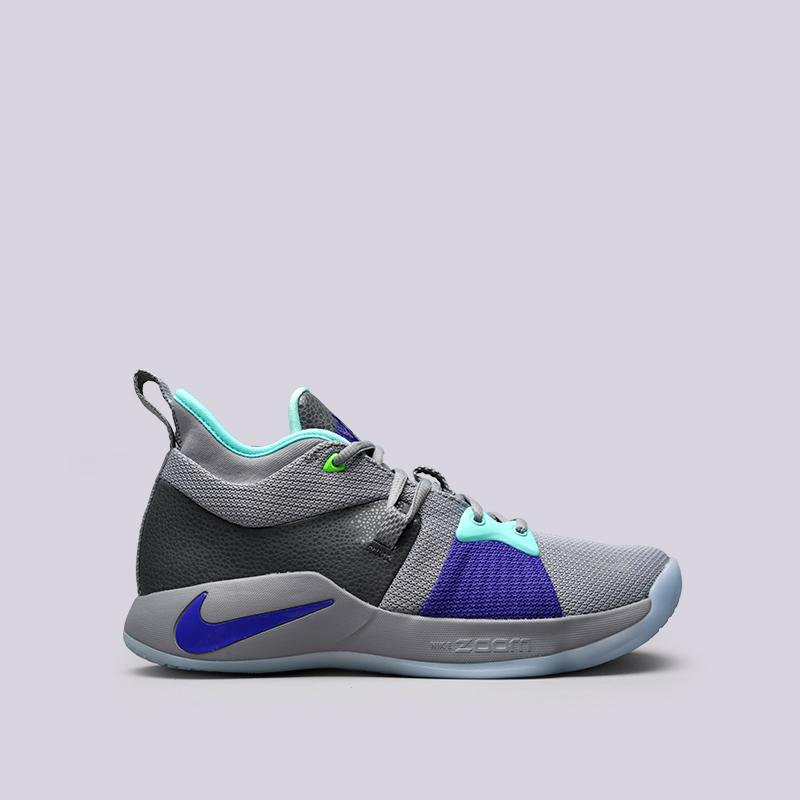 Кроссовки Nike PG 2Кроссовки баскетбольные<br>Текстиль, синтетика, резина<br><br>Цвет: Серый<br>Размеры US: 8;8.5;9;9.5;10;10.5;11;11.5;12;12.5;13<br>Пол: Мужской
