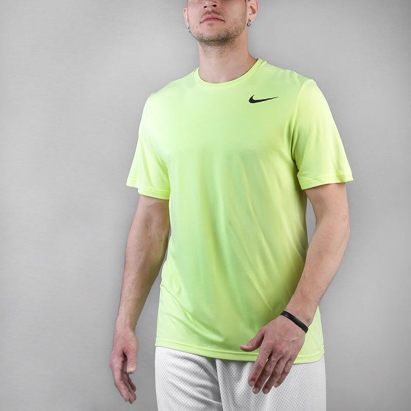 мужскую салатовую  футболка nike breathe 832835-703 - цена, описание, фото 1