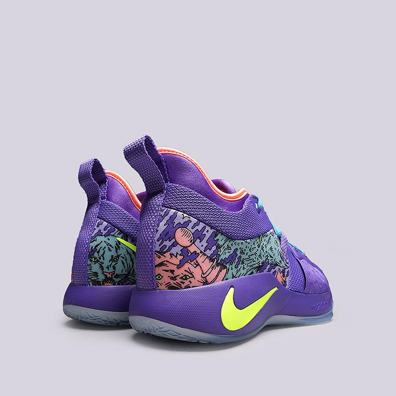 мужские фиолетовые кроссовки nike pg 2 mm AO2986-001 - цена, описание, фото 707879f6f03