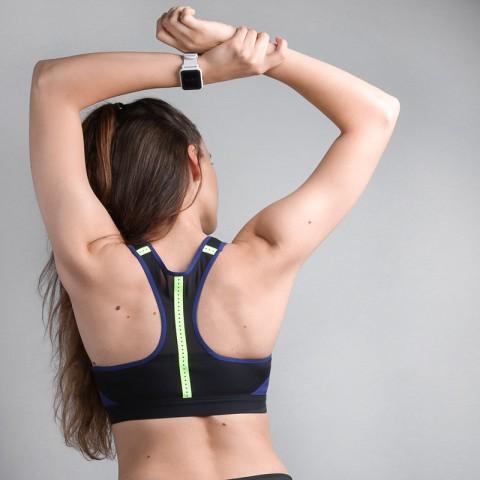 женский синий  топ nike high support sports bra 888575-429 - цена, описание, фото 3