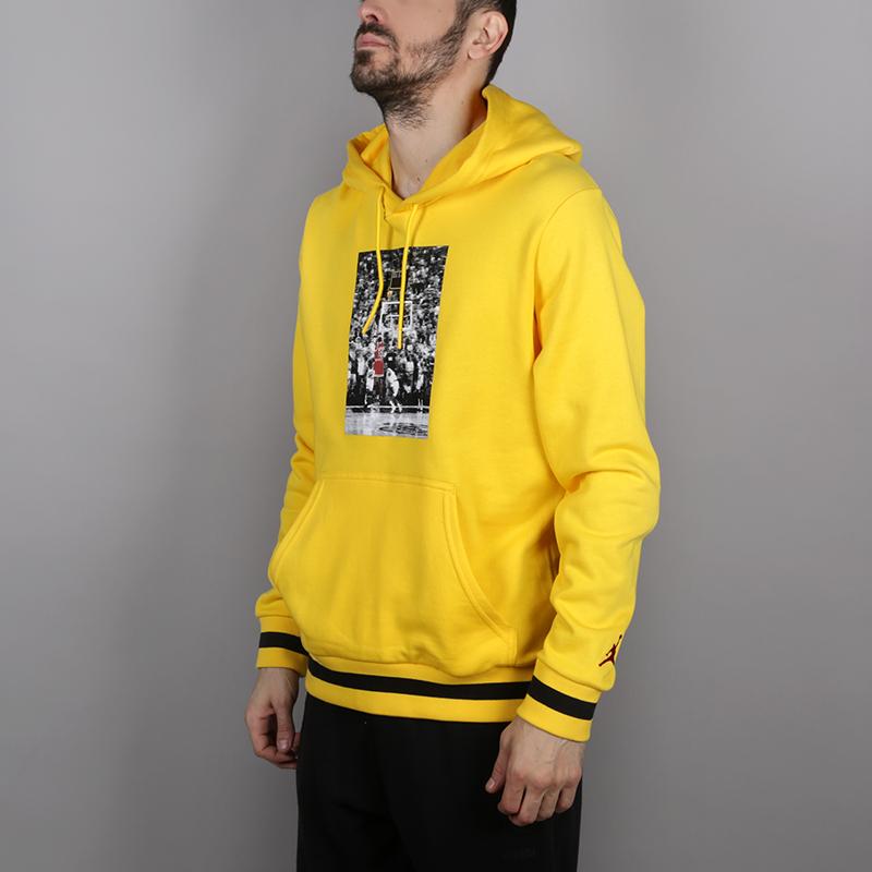 8d9c09a2adea1b мужскую желтую толстовка jordan sportswear last shot wings lite pullover  AQ0618-719 - цена