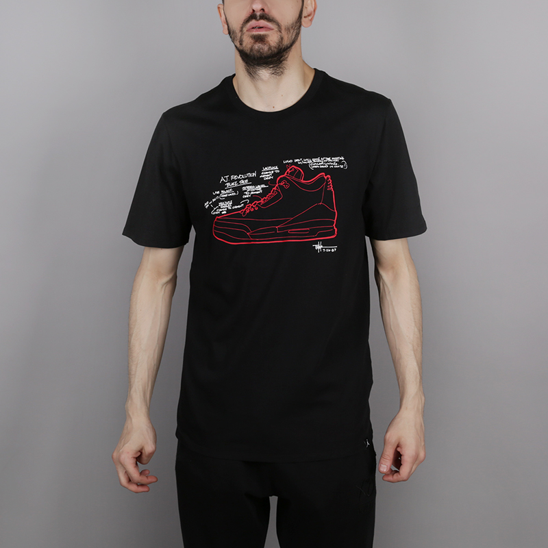 Футболка Jordan Retro 3 T-ShirtФутболки<br>100% хлопок<br><br>Цвет: Черный<br>Размеры US: S;M;L;XL;2XL<br>Пол: Мужской