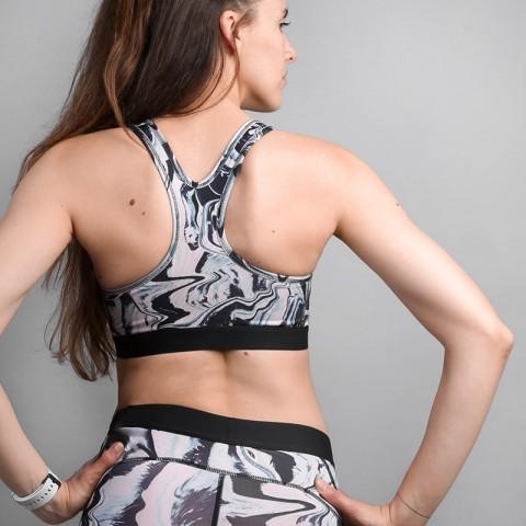женский розово-черный  топ nike classic painted marble 888599-684 - цена, описание, фото 2