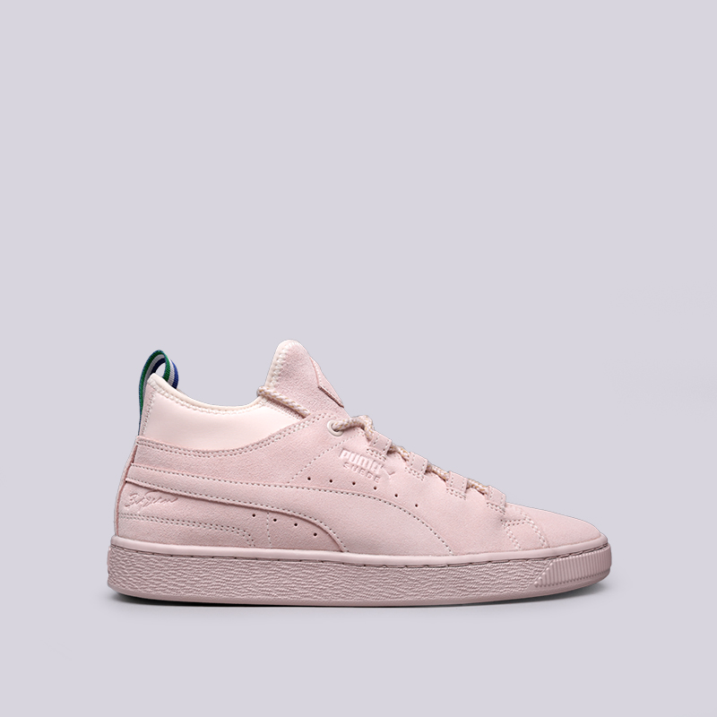 493a9d38254c мужские розовые кроссовки puma suede mid big sean 36625201 - цена,  описание, фото 1