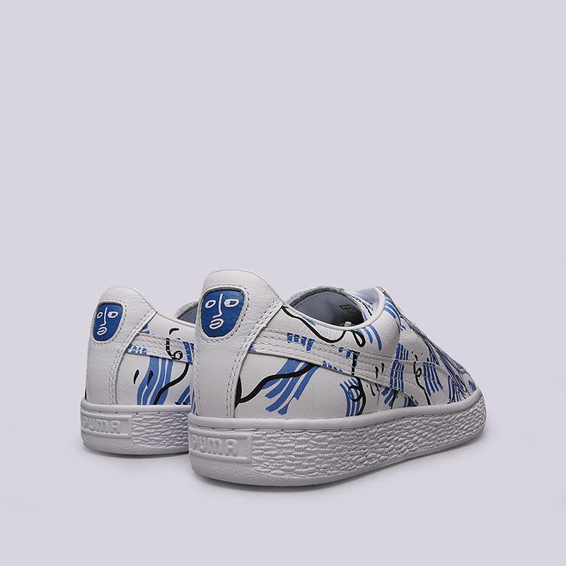 белые, синие кроссовки puma basket sm 36589901 - цена, описание, фото 4 88c62f61642