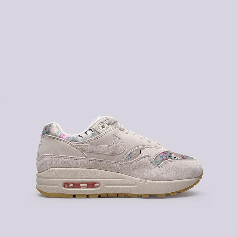 Кроссовки Nike WMNS Air Max 1Кроссовки lifestyle<br>Кожа, текстиль, резина<br><br>Цвет: Бежевый<br>Размеры US: 6;9<br>Пол: Женский