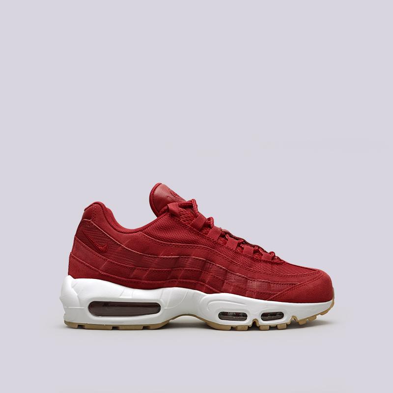 Кроссовки Nike Air Max 95 PRMКроссовки lifestyle<br>Кожа, текстиль, резина, пластик<br><br>Цвет: Красный<br>Размеры US: 8;9;9.5;10;10.5;11;12<br>Пол: Мужской