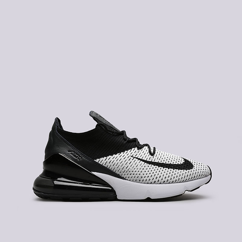 e2a4696b мужские черные, белые кроссовки nike air max 270 flyknit AO1023-100 - цена,