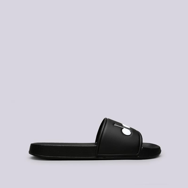 Сланцы Diadora Serifos 90Сланцы, балетки<br>Синтетика<br><br>Цвет: Чёрный<br>Размеры EUR: 42<br>Пол: Мужской