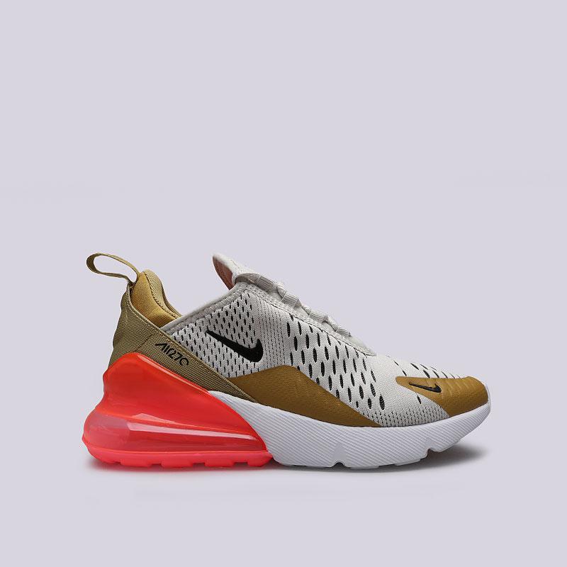 Кроссовки Nike WMNS AIr Max 270Кроссовки lifestyle<br>Текстиль, резина, пластик<br><br>Цвет: Бежевый, коричневый, розовый<br>Размеры US: 6;6.5;8.5<br>Пол: Женский