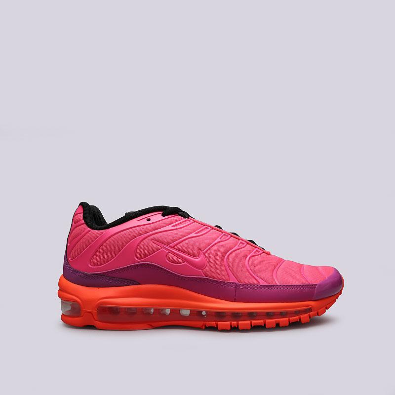 Кроссовки Nike Air Max 97 / PlusКроссовки lifestyle<br>Текстиль, синтетика, резина<br><br>Цвет: Розовый, оранжевый, фиолетовый<br>Размеры US: 8.5;10;7;5.5;9;10.5;7.5;6;9.5;11;8;6.5;12