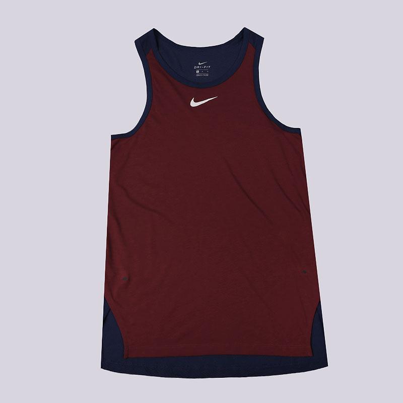 Майка Nike Breathe Elite Mens Sleeveless Basketball TopБезрукавки<br>75% полиэстер, 13% хлопок, 12% вискоза<br><br>Цвет: Бордовый, синий<br>Размеры US: 2XL;XL;L;M;S<br>Пол: Мужской