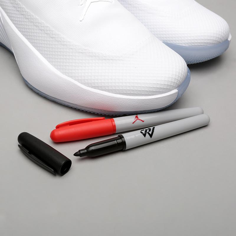 мужские белые  кроссовки jordan why not zer0.1 AA2510-100 - цена, описание, фото 7