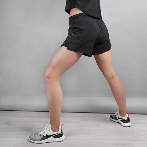 женские черные  шорты nike flex shorts 891939-010 - цена, описание, фото 3