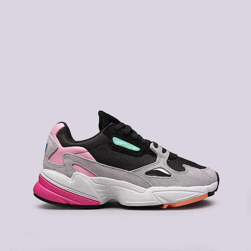 женские черные, серые, розовые кроссовки adidas falcon w BB9173 - цена,  описание, a674face7ea