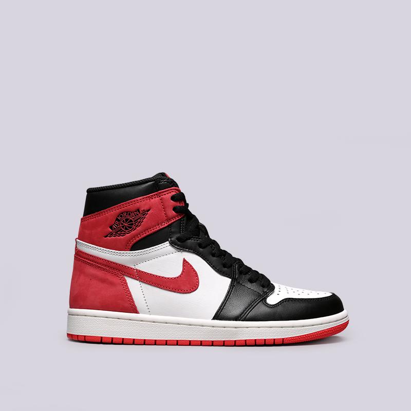 07f7764bc42193 мужские чёрные, белые, красные кроссовки jordan 1 retro high og 555088-112 -