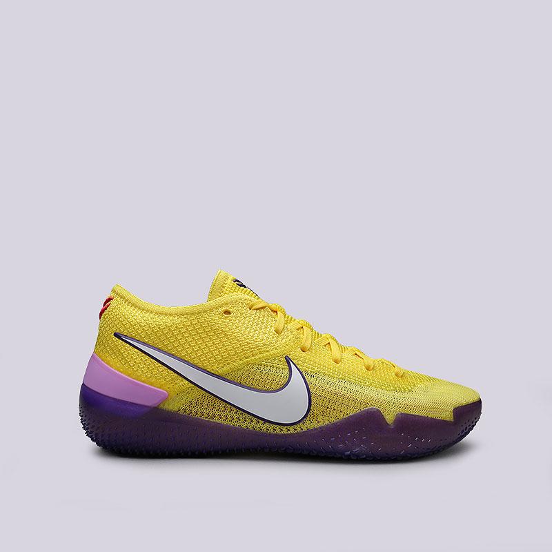 Кроссовки Nike Kobe AD NXT 360Кроссовки баскетбольные<br>Текстиль, резина<br><br>Цвет: Желтый, фиолетовый<br>Размеры US: 9.5;10;8;12.5;10.5;8.5;13;11;9;13.5;12<br>Пол: Мужской