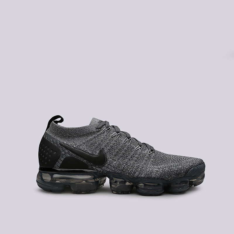 Кроссовки Nike Air Vapormax Flyknit 2Кроссовки lifestyle<br>Текстиль, резина, пластик<br><br>Цвет: Серый<br>Размеры US: 11.5;9;12;8;8.5<br>Пол: Мужской