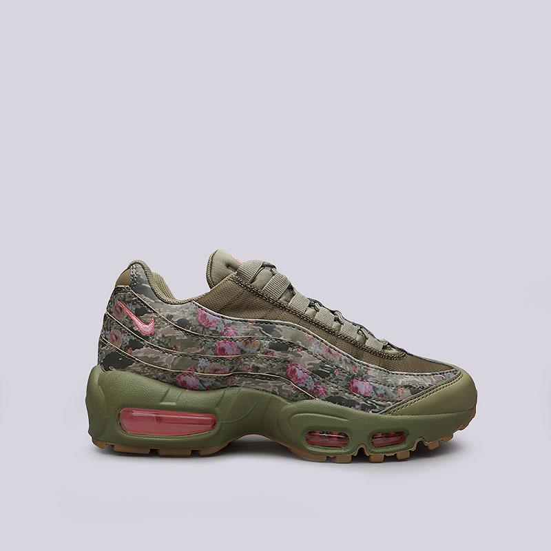 Кроссовки Nike WMNS Air Max 95Кроссовки lifestyle<br>Кожа, синтетика, текстиль, резина, пластик<br><br>Цвет: Зеленый, розовый<br>Размеры US: 6;8;6.5;8.5;7;9;7.5<br>Пол: Женский