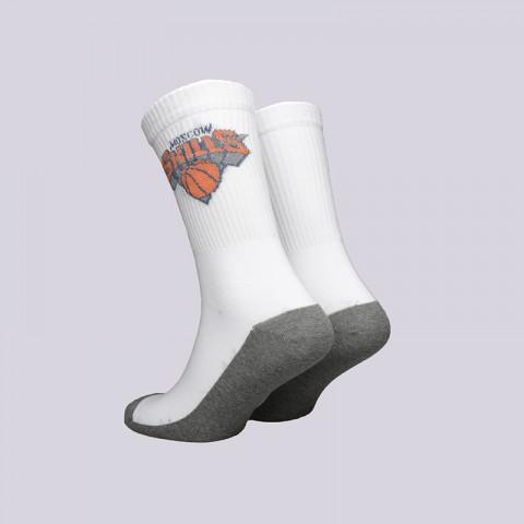 Купить мужские белые  носки skills new york в магазинах Streetball - изображение 2 картинки