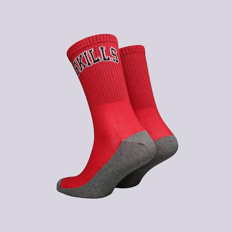 мужские красные  носки skills chicago Chicago-red - цена, описание, фото 2
