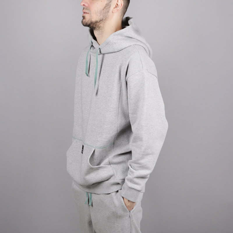 мужскую серую  толстовка adidas eqt 18 hoodie CV8598 - цена, описание, фото 3
