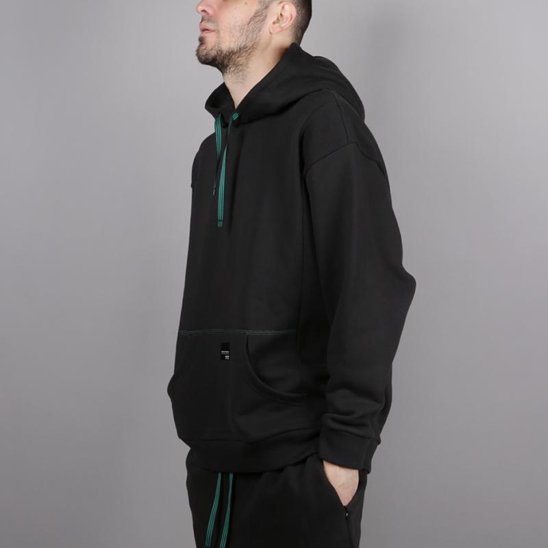 мужскую чёрную  толстовка adidas eqt 18 hoodie CD6856 - цена, описание, фото 2