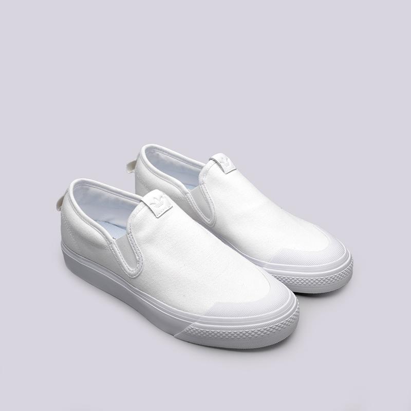 женские белые  кроссовки adidas nizza slipon w CQ3103 - цена, описание, фото 3