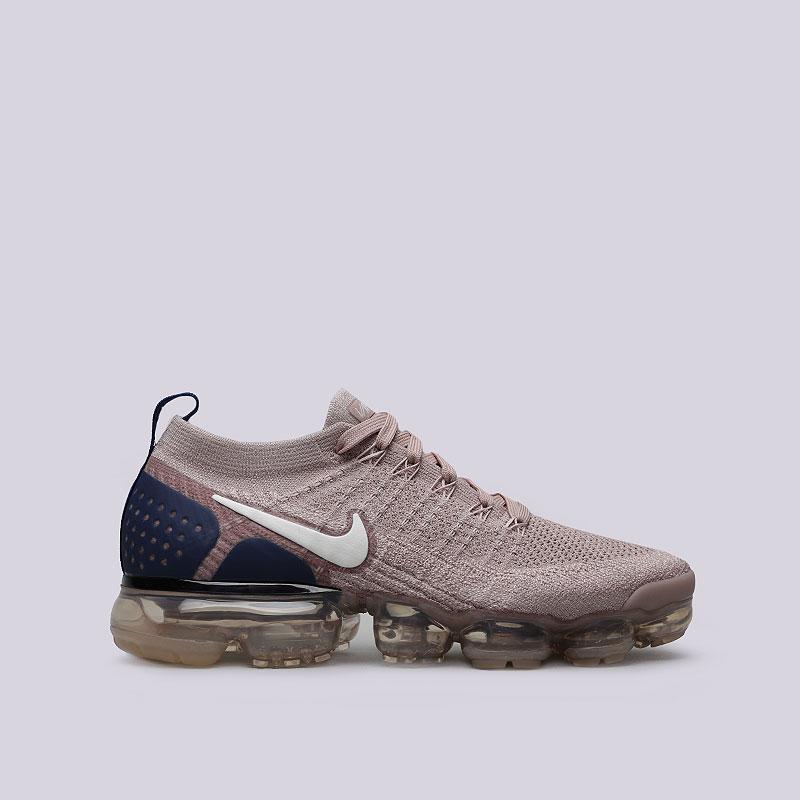 62f03f4c мужские бежевые, синие кроссовки nike air vapormax flyknit 2 942842-201 -  цена,