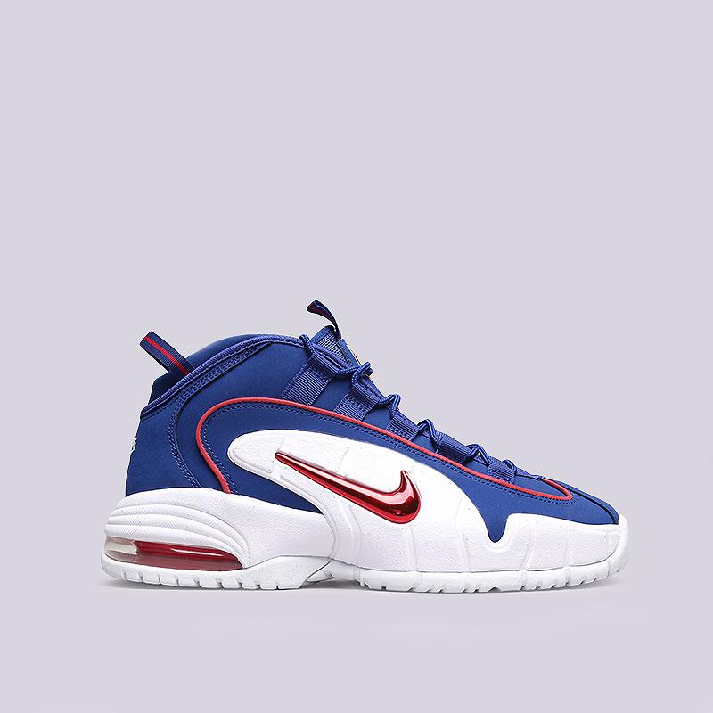 мужские синие, белые, красные кроссовки nike air max penny 685153-400 - цена adbb6ddefa6
