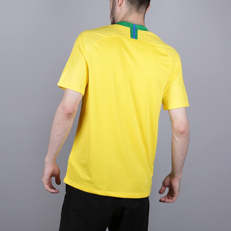 мужскую жёлтую  футболка nike brasil 893856-749 - цена, описание, фото 5