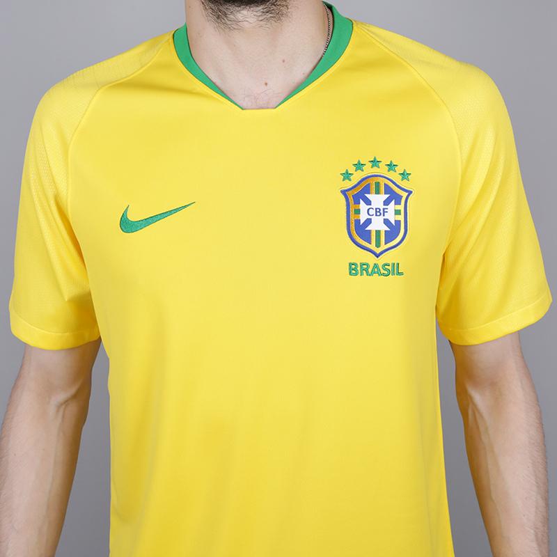 мужскую жёлтую  футболка nike brasil 893856-749 - цена, описание, фото 2