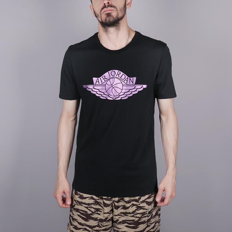 мужскую чёрную  футболка jordan brand 3 AA1903-010 - цена, описание, фото 1